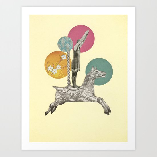 Runaway Horse Art Print