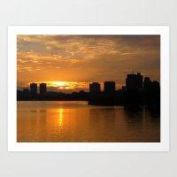 Charles River Sunrise 4 Art Print