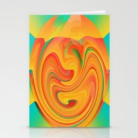desert Stationery Cards featuring Desert by Casey