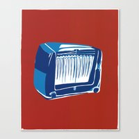 radio Canvas Prints featuring Radio! by Cai Sepulis