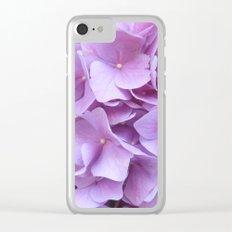 Hydrangea Clear iPhone Case