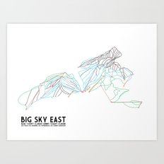 Big Sky, MT - Eastern Exposure - Minimalist Trail Map Art Print