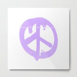Peace lilac Metal Print