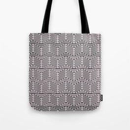 Triangle Print Tote Bag