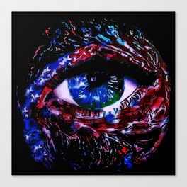 We The Peephole Canvas Print