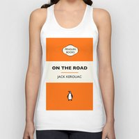 kerouac Tank Tops featuring Penguin Book / On The Road - Jack Kerouac  by FunnyFaceArt