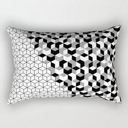 Hexagon(black) #2 Rectangular Pillow