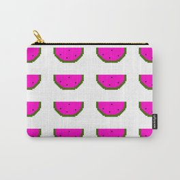 Cute Watermelon Pixel Art Design Retro 8-Bit Carry-All Pouch