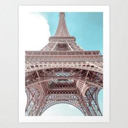 Paris Eiffel Towel in pastel colors Art Print