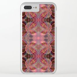 Nautilus Shell Pink Geometric Clear iPhone Case