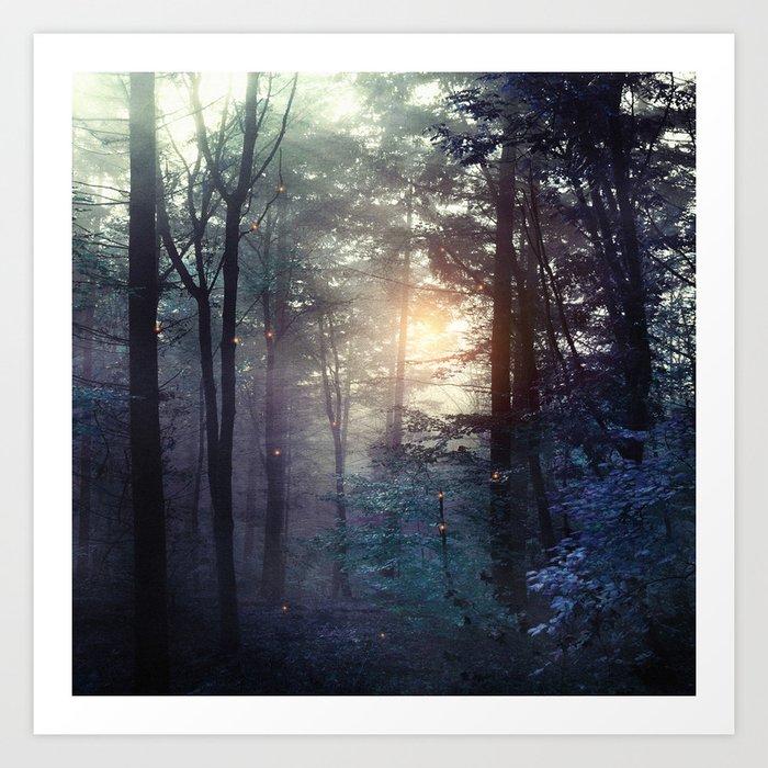 A walk in the forest Kunstdrucke
