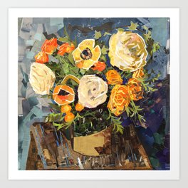 Tin Can Studio Floral #3 Art Print