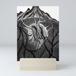 The Heart of the Mountain. Mini Art Print