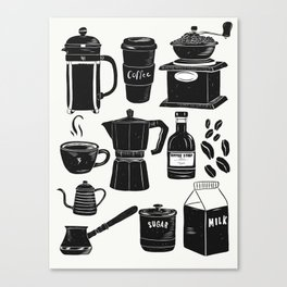 Coffee Culture Canvas Print