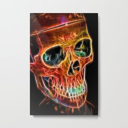 Skull orange Metal Print