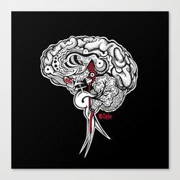 Intuition - Black Canvas Print