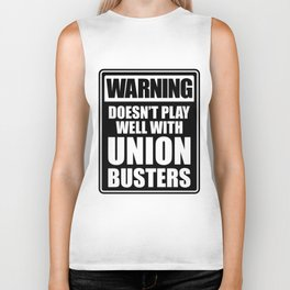 Labor Union of America Pro Union Worker Protest Light Biker Tank