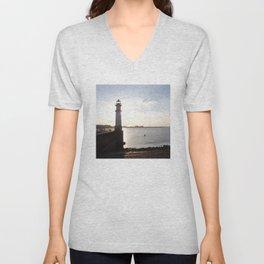 Leith Lighthouse Edinburgh Unisex V-Neck