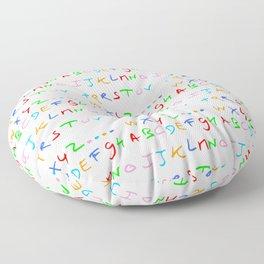 alphabet-letter,child,language,fun,abc,abcdefg,symbols,abecedarium,script,write,writing,signe,read Floor Pillow