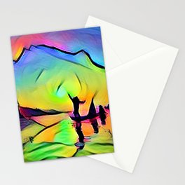Fishing at Sunset Stationery Cards