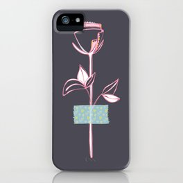 Rosewall (on grey) iPhone Case