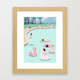 Water fun Framed Art Print