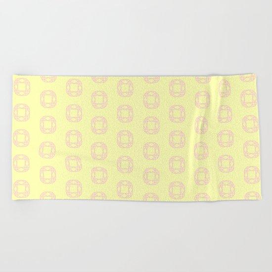 Happy Cushion Gems Beach Towel