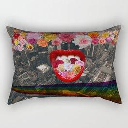 Flower  Vomit Rectangular Pillow