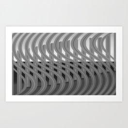 Crazy greylines 4 Art Print