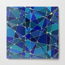 Constellation Blue Metal Print