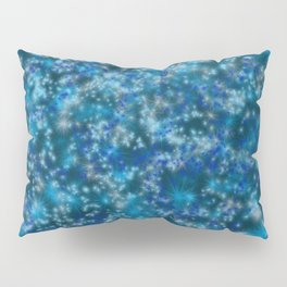 Blue Twinkling Fairy Lights Pillow Sham