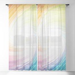 Rainbow background Sheer Curtain
