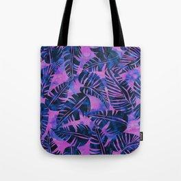 Lani Kai Leaf Purple Tote Bag