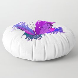 Purple Butterfly Floor Pillow