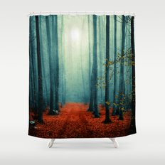 Landscape (colour option) Shower Curtain