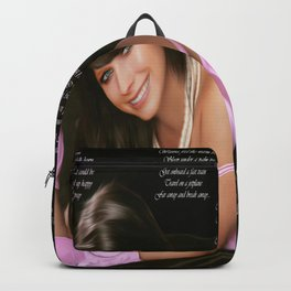 A Beautiful Avril Lavigine Singing wallpaper/poster design Backpack