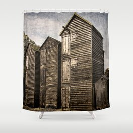 Fishermens Huts at Hastings Shower Curtain
