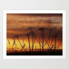 Sunset Silhouettes Art Print