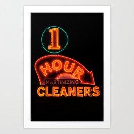 1 Hour Cleaners Art Print
