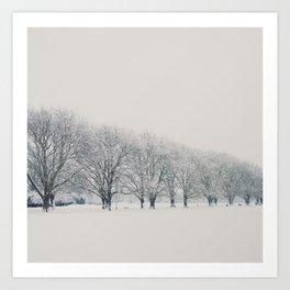 a snow day in Cambridge Art Print