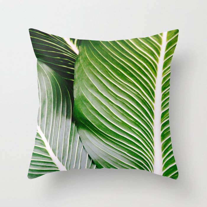 Big Leaves - Tropical Nature Photography Throw Pillow