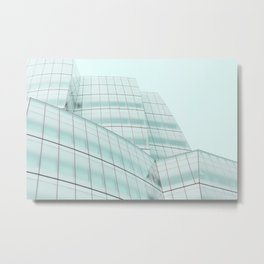 Urban Turquoise Architecture Metal Print