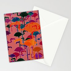 multicoloured flamingos Stationery Cards