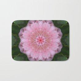Pink Carnation Mandala Abstract Bath Mat