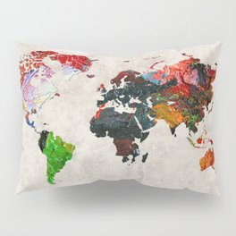 World Map 56 Pillow Sham