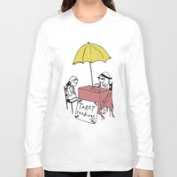 tarot Long Sleeve T-shirts featuring Tarot Reader by hannah koslosky