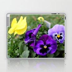 Purple Flowers Laptop & iPad Skin