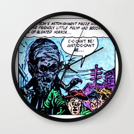 The Friendly Little Polyp Wall Clock