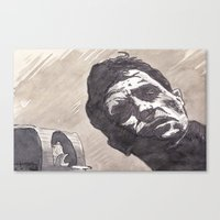 kerouac Canvas Prints featuring Kerouac, Radio by Hosho McCreesh