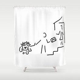 postman mailman post Shower Curtain